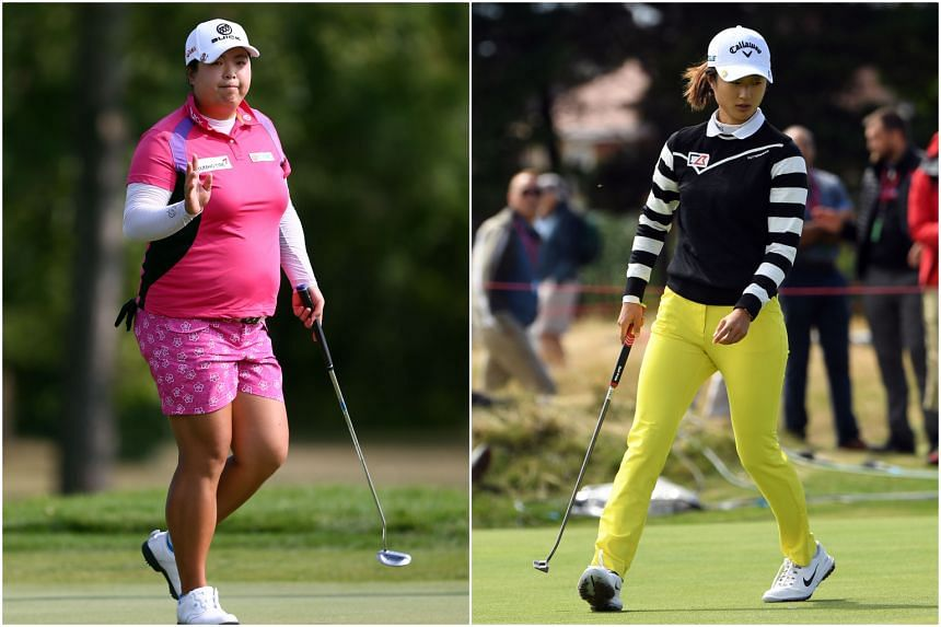 Sources said Feng Shanshan (left) and Liu Yu (right) were told that they should not play in the Swinging Skirts LPGA Taiwan Championship, which starts in Taipei on Oct 25, 2018.
