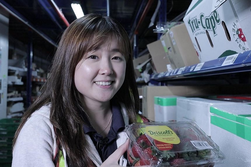 Ms Sylvia Yong, who leads a team of quality control personnel at online grocery store RedMart.