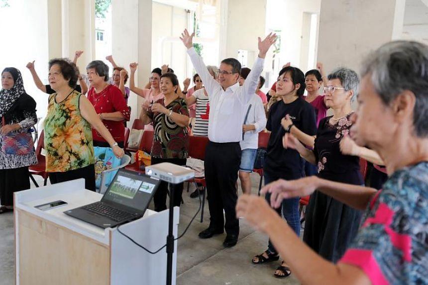 Senior Minister of State for Health Edwin Tong at a community engagement event for seniors with dementia and their caregivers on Oct 23, 2018.