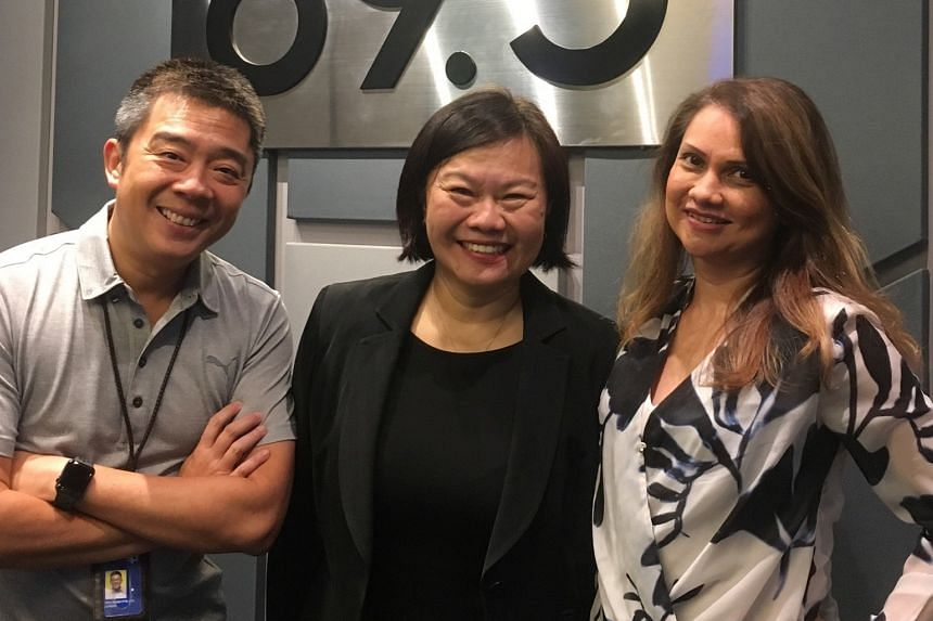 Dr Jovina Ang (centre) is a lecturer from NUS and she chats in this podcast with Money FM's The Curve presenters Bernard Lim and Michelle Martin.