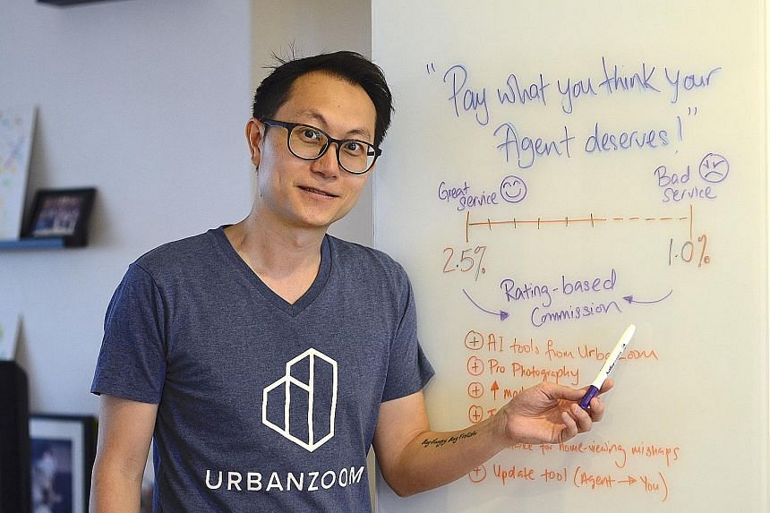 Mr Michael Cho launched his website Urban Agents last week. It connects home sellers to agents and lets them pay what they think the agent deserves.