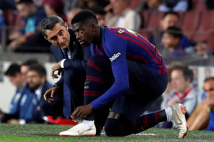 Barcelona coach Ernesto Valverde may count on Ousmane Dembele to stand in for Lionel Messi against Inter Milan in their Champions League clash today. Both teams are joint top of Group B after winning their first two games.