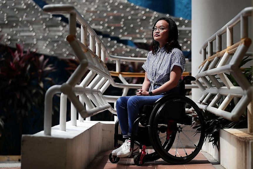 The accident changed Ms Azlin Amran from a carefree soul who loved travelling, to having to depend on others for the most basic of tasks, like going to the toilet. The turnaround came when she attended the SPD's Transition to Employment programme, wh
