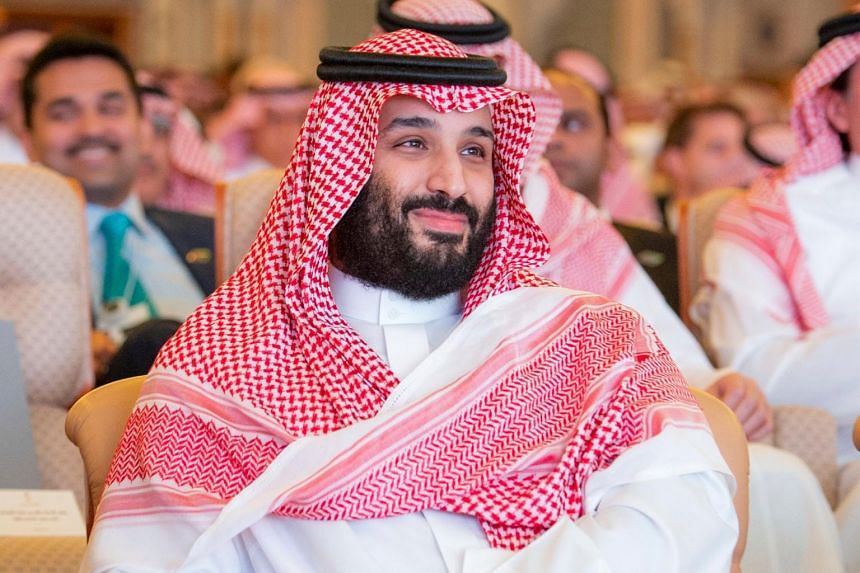 Saudi Crown Prince Mohammed bin Salman at the investment conference in Riyadh, Saudi Arabia, on Oct 23, 2018.