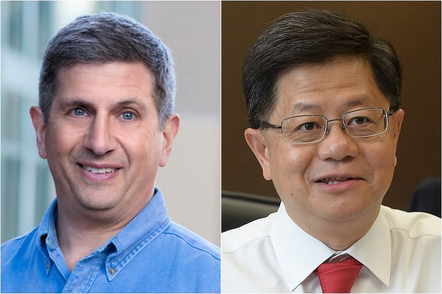 Economist Andrew K. Rose (left) will succeed Professor Bernard Yeung as the dean of the National University of Singapore's Business School on June 1, 2019.
