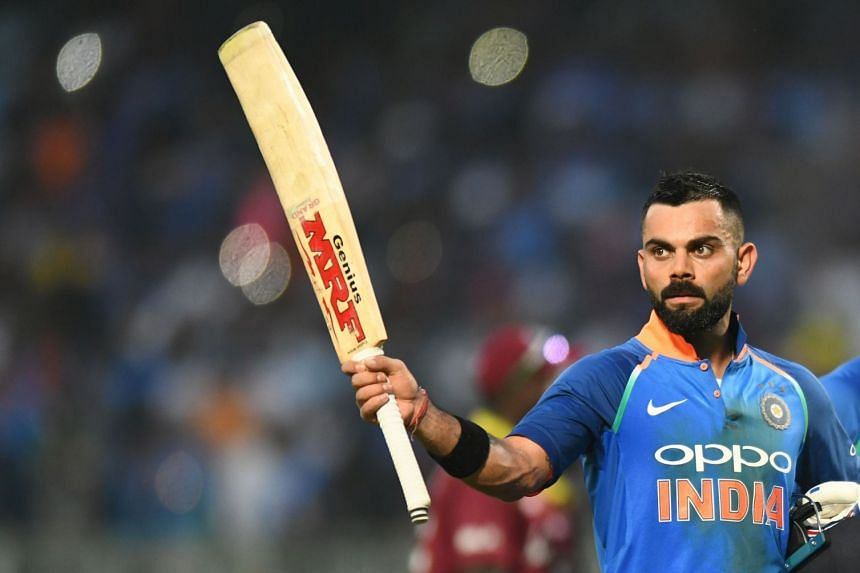 Indian cricket captain Virat Kohli during the cricket match between India and West Indies at the Dr. Y.S. Rajasekhara Reddy ACA-VDCA Cricket Stadium in Visakhapatnam on Oct 24, 2018.