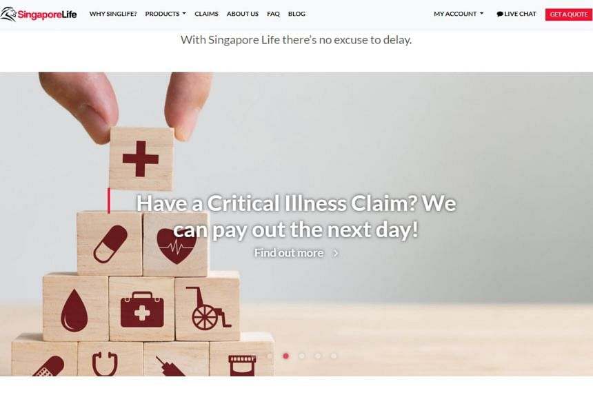 According to Singapore Life, it is the first insurer in Singapore to offer a next-day critical illness claim benefit.