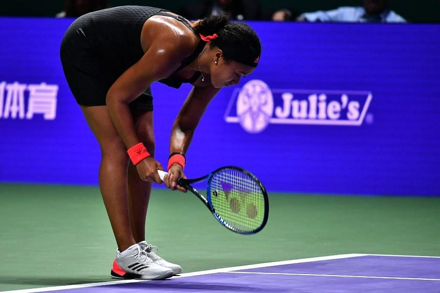 Osaka pins Singapore losses on serving woes