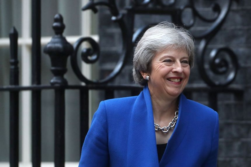 May walking out of 10 Downing Street in London, Oct 24, 2018.