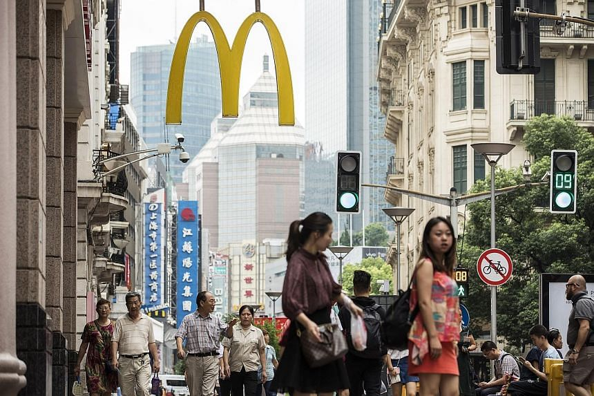A McDonald's restaurant in Shanghai. International markets have been a bright spot for McDonald's, as it launched a restaurant modernisation programme years before similar efforts in the US.