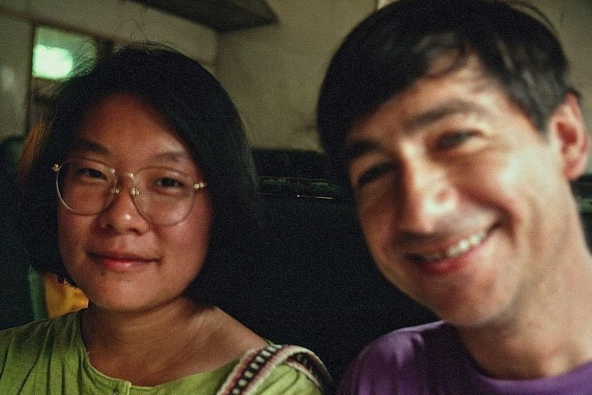 The film reels for Shirkers (above) by film-maker Sandi Tan (below left, with Georges Cardona) were found a few years ago.