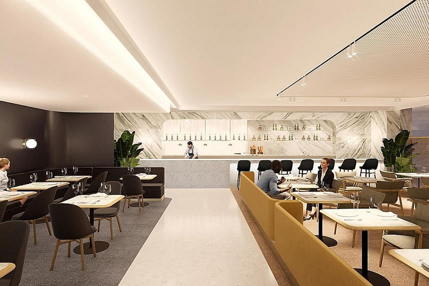 An artist's impression of the new first class lounge to be built for Qantas customers at Changi Airport.