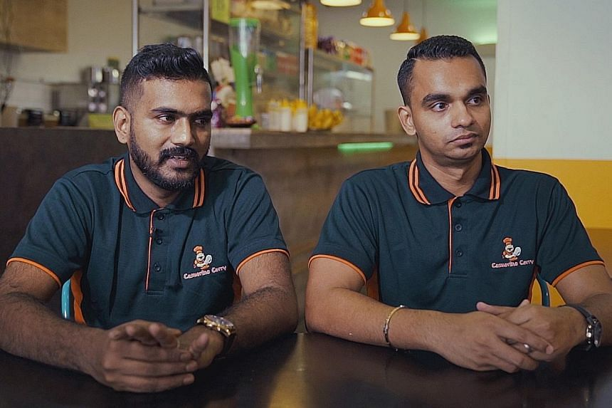 Mr Keerthi Rajendran (far left) and Mr Karthigayan Venkatesan set up the offshoot of Casuarina Curry, a restaurant known for dishes such as fish head curry (above).