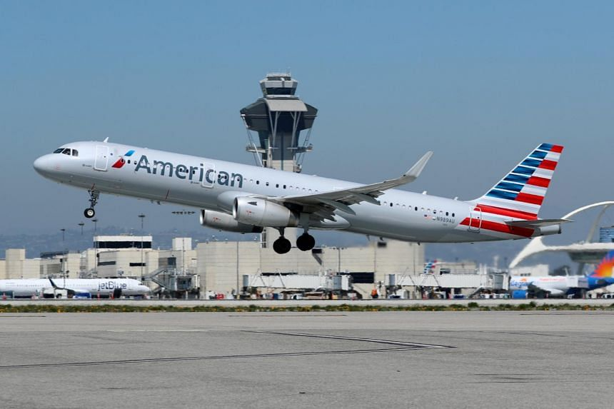 File photo of an American Airlines plane taking off from Los Angeles International Airport.