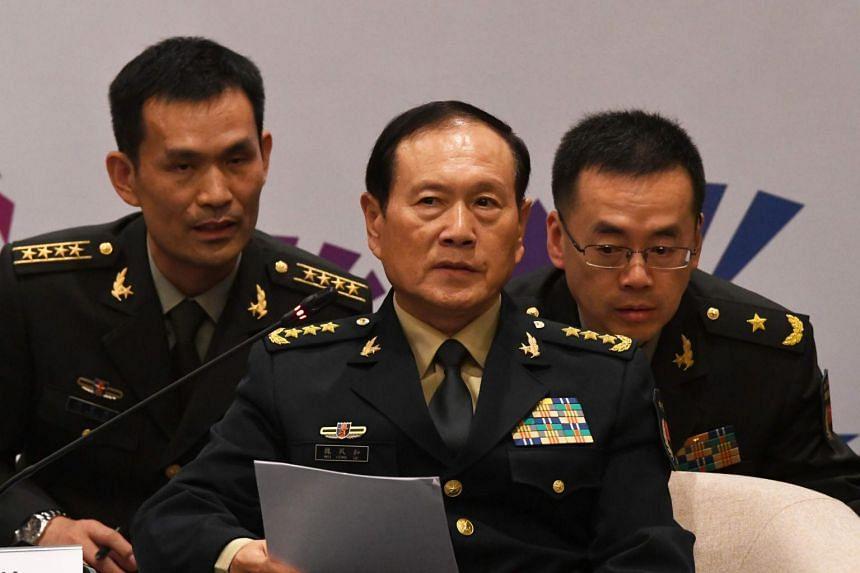 """Minister obrony Wei Fenghe ostrzegł, że """"niezwykle niebezpieczne"""" jest wielokrotne kwestionowanie podstaw finansowych Chin w kwestiach terytorialnych."""
