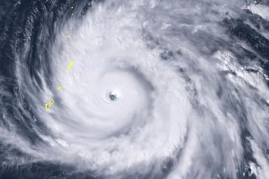 Satellite imagery shows Typhoon Yutu as it approached the Northern Mariana Islands.