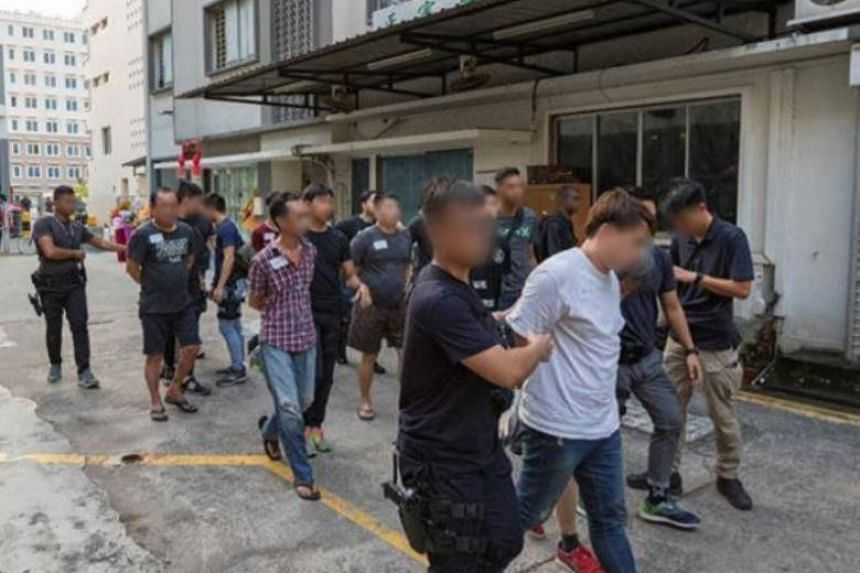The 61 men and five women, aged between 17 and 63, were arrested for their suspected involvement in gang-related activities, operating of illegal gambling dens and other criminal activities.
