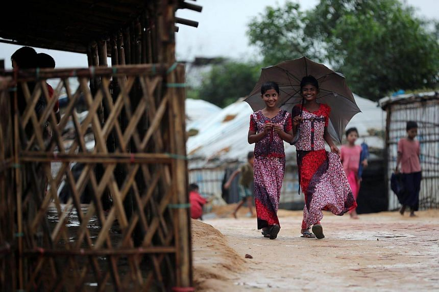More than 700,000 Rohingya Muslims have fled Rakhine state for Bangladesh since a crackdown on the minority began in August last year.