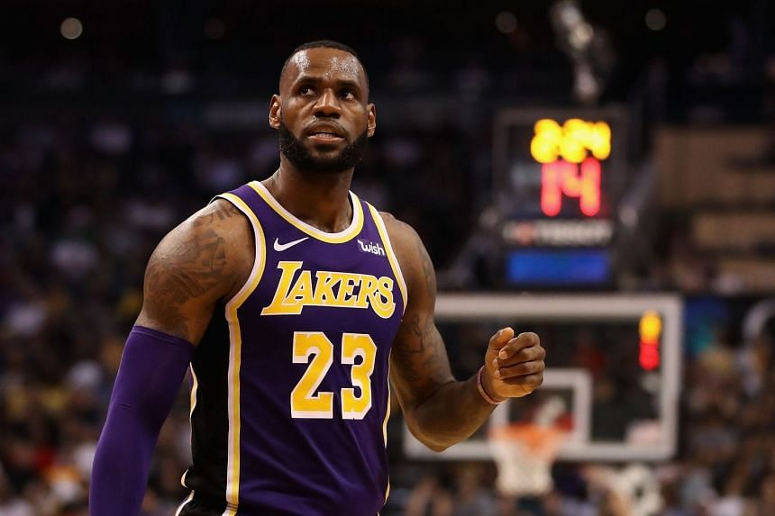 LeBron James had 10 points and five assists in the second quarter to help the Lakers outscore the Suns 44-24 and take a 76-54 lead into half-time.
