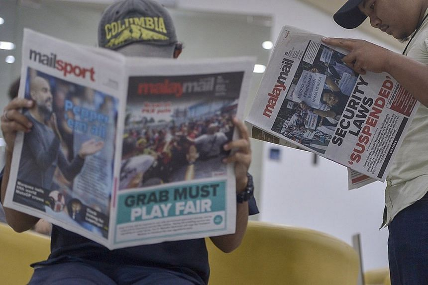 The circulation of newspapers in Malaysia has dwindled in recent years, with Malay Mail's print sales currently at 10,000 daily from a peak of over 60,000 decades ago.