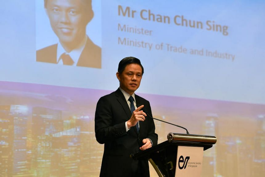 Minister for Trade and Industry Chan Chun Sing shared several key strategies Singapore needs to ensure its future success at the Singapore Economic Policy Forum on Oct 25, 2018.