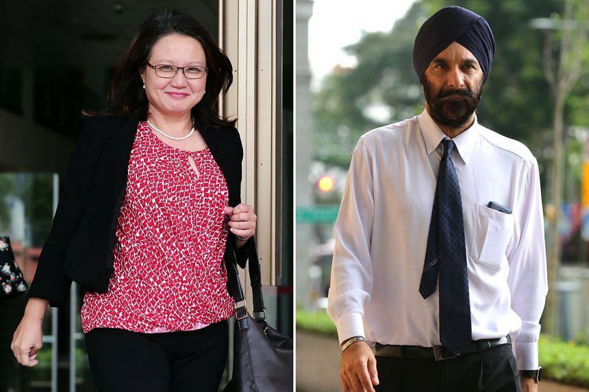 Senior Counsel Davinder Singh and Workers' Party chairman Sylvia Lim crossed swords yesterday over a heads up Ms Lim is said to have given the owners of FM Solutions & Services to come fully prepared to a meeting to defend their pricing in their bid