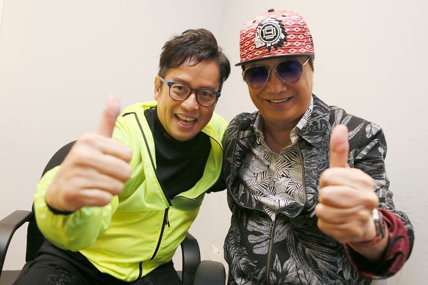 Music veterans Alan Tam (left) and Sam Hui, two of Cantopop's biggest stars, will perform at the Singapore Indoor Stadium on Dec 1.