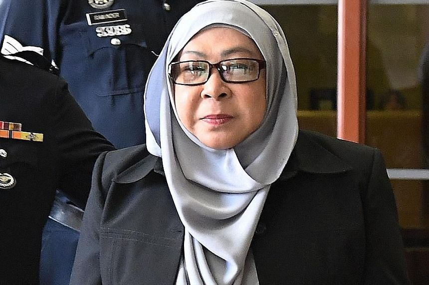 Hasanah Ab Hamid pleaded not guilty to a criminal breach of trust charge involving $16.7 million.