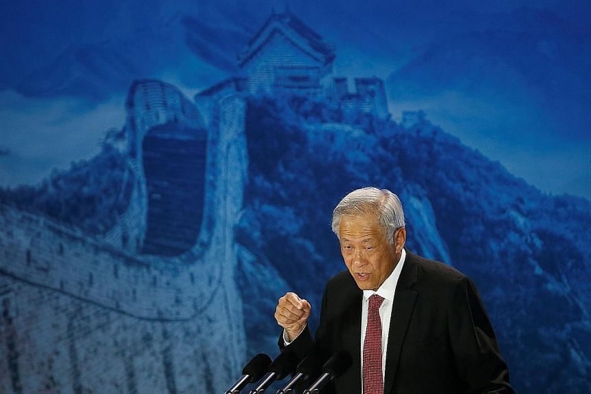 Defence Minister Ng Eng Hen said at the Xiangshan Forum in Beijing yesterday that it is essential for the region's military leaders to build rapport, understanding and confidence through interactions at various levels.
