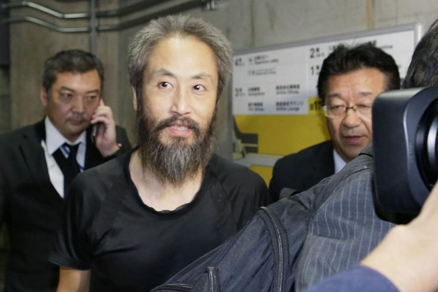 Japanese journalist Jumpei Yasuda arrived home after more than three years of what he called physical and psychological hell.