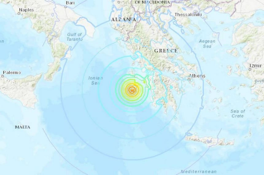 The epicenter of the quake, initially reported as a magnitude 7.0, was in the Ionian Sea, some 133.5km south-west of Patras in the Peloponnese.