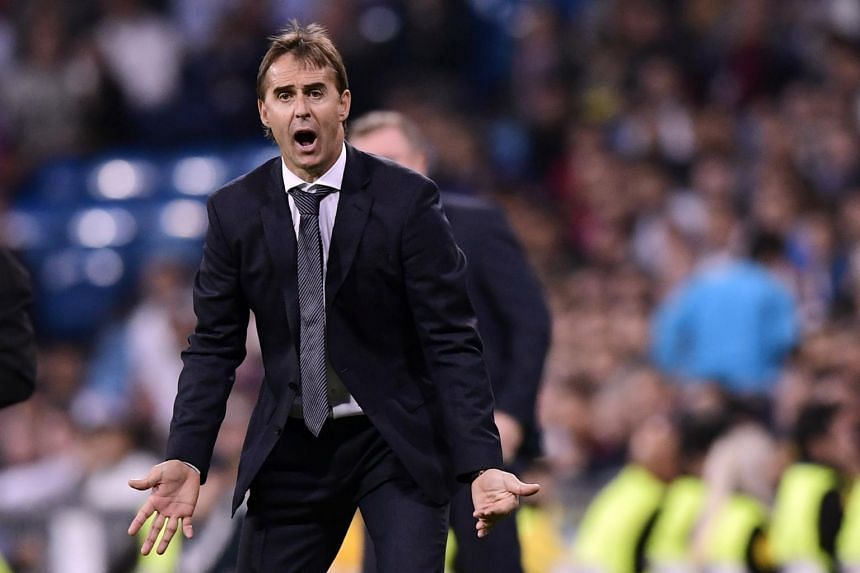 Real Madrid's Spanish coach Julen Lopetegui gestures during the UEFA Champions League match between Real Madrid CF and FC Viktoria Plzen at the Santiago Bernabeu stadium in Madrid on Oct 23, 2018.