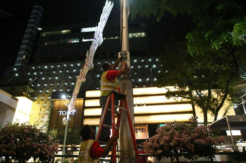 A total of 60.6km of LED rope lights were used during the Christmas light-up 2017 in Orchard Road. LED bulbs use about 80 per cent less electricity and can last longer, making them cost effective.