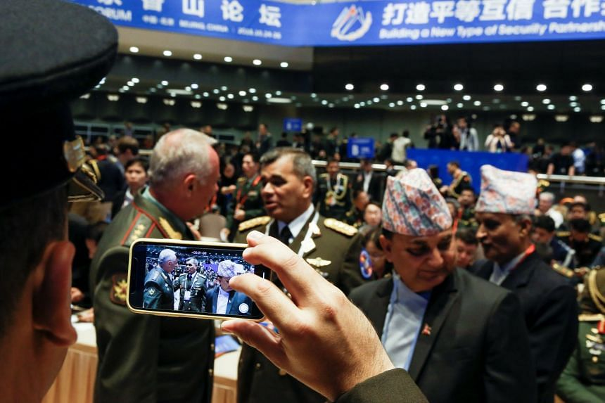 Military delegates at the Xiangshan Forum in Beijing, on Oct 25, 2018.