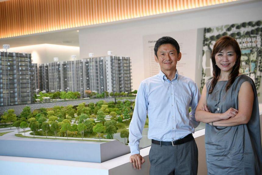 Kajima project director Kazunori Ichihashi and Ms Mable Chan, executive vice-president, Human Resources, Administration and Times Properties, Singapore Press Holdings.