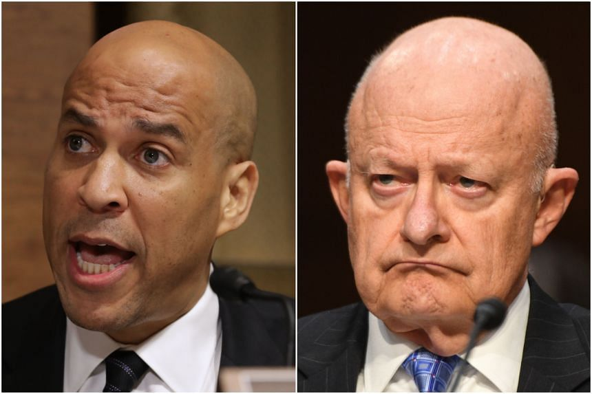 Suspicious packages were found addressed to US Senator Cory Booker (left) and the former US director of national intelligence James Clapper on Oct 26, 2018.