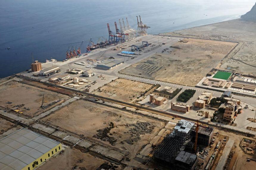 File photo of the Gwadar port in Gwadar, Pakistan, on Oct 4, 2017.