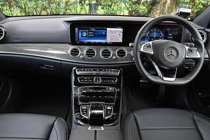 The Mercedes-Benz E350e offers a cushy yet controlled ride, which is supported by an insulated and well-appointed cabin.