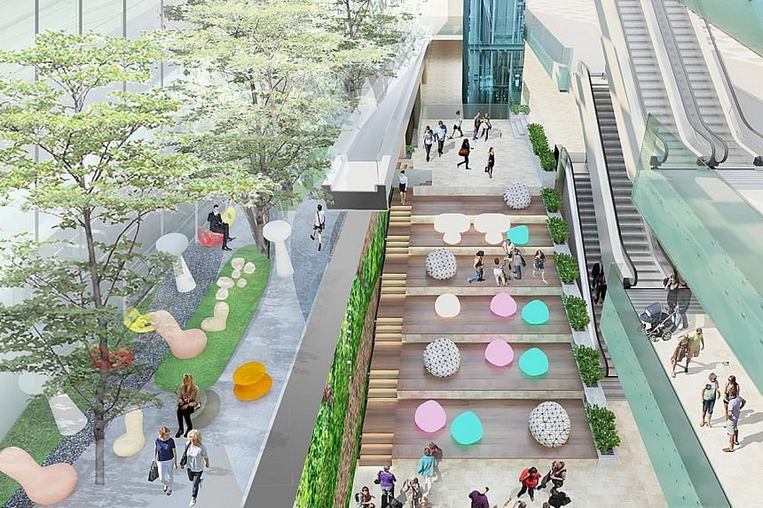 An artist's impression of the new atrium space at Terminal 3. The new space will be ready by around Christmas and will be big enough for about 200 people.