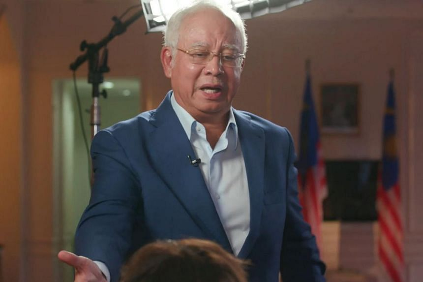 Former Malaysian prime minister Najib Razak got visibly irritated when the questions asked revolved around 1MDB and Jho Low.