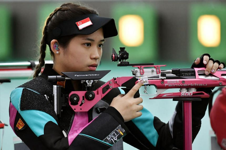 Martina Veloso topped the 10-shooter field with 604.7 points.