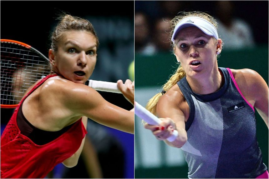 Kim Clijsters believes Simona Halep (left) and Caroline Wozniacki (right) are well-equipped to deal with the public and media's insatiable demand for success, after the duo ended their Grand Slam title droughts this year.