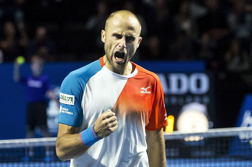 Copil reacts during his semifinal match against Alexander Zverev of Germany.