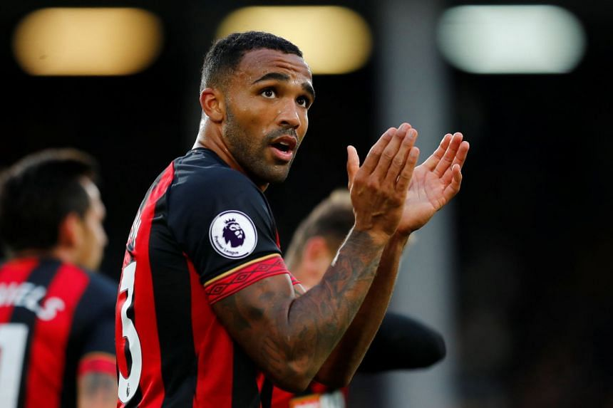 Bournemouth's Callum Wilson applauds the fans after the match.