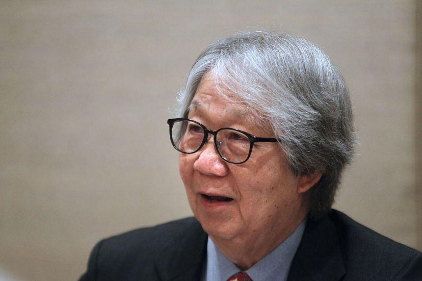 Professor Tommy Koh is pictured at an event in Singapore in 2012.