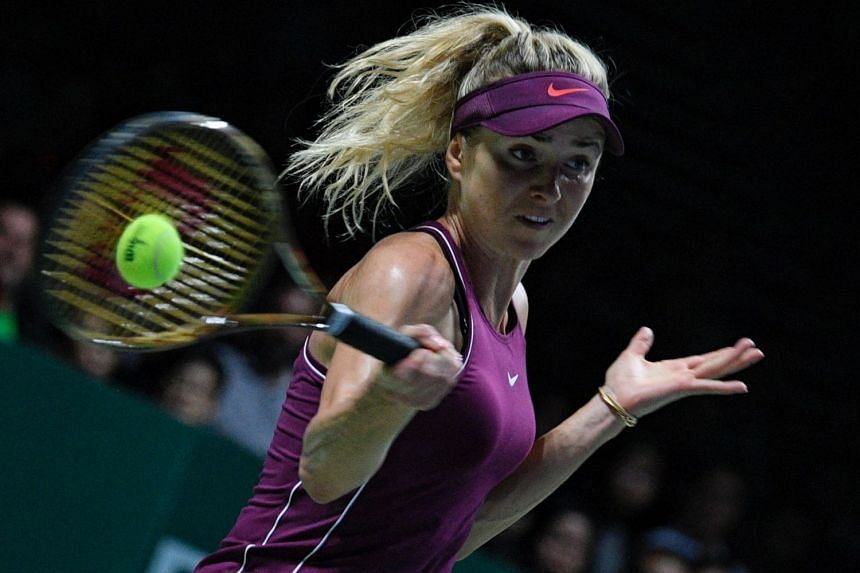 Ukraine's Elina Svitolina in action against USA's Sloane Stephens in the final of the BNP Paribas WTA Finals at the Indoor Stadium on Oct 28, 2018. She steadied herself after losing the first set to win her biggest title.