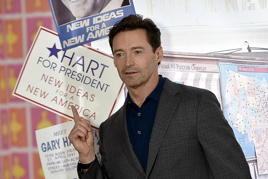 Hugh Jackman at a photo call for the movie The Front Runner in New York last month.
