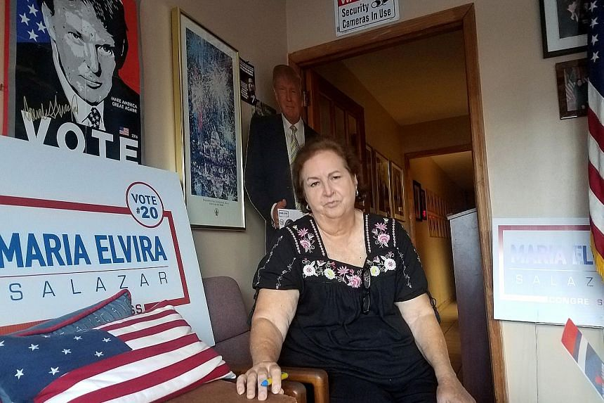 Ms Mariela Jewett, deputy director of the Republican Party of Miami-Dade County, sees the US midterm elections as a battle against socialism.