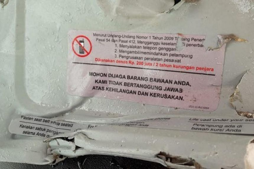 Recovered debris believed to be from the crashed Lion Air flight JT610.
