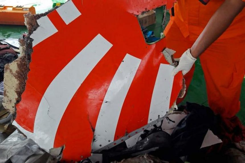 A piece of wreckage from Lion Air flight JT610.